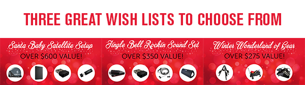 Three great wishlists to choose from.